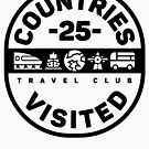 25 Countries Visited Travel - Black Version by designkitsch