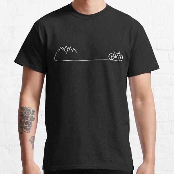 mtb mountain biker biker biking cycling mountains bicycle cyclist gift Classic T-Shirt