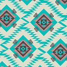 Turquoise ethnic shapes by CocosAbstract