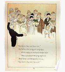 The Glad Year Round for Boys and Girls by Almira George Plympton and Kate Greenaway 1882 0051 Do Re Mi Fa So La Ti Do Poster