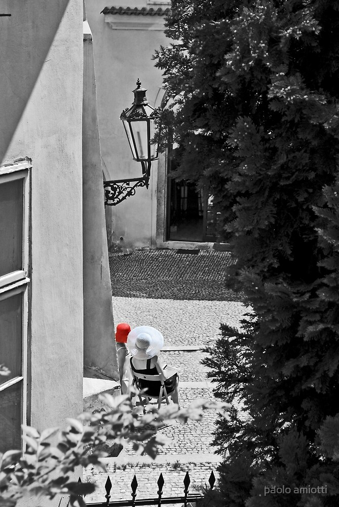 white and red hats by paolo amiotti