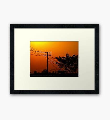 Near Day's End Framed Print