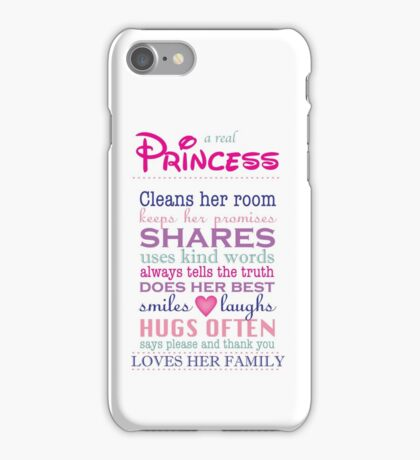 a real princess - family plaque iPhone Case/Skin