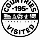 195 Countries Visited Travel - Black Version by designkitsch
