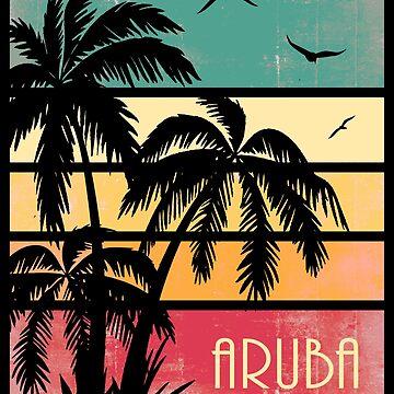 Aruba Vintage Sonnenuntergang von Boy-With-Hat