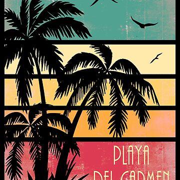 Playa Del Carmen Vintage Sonnenuntergang von Boy-With-Hat