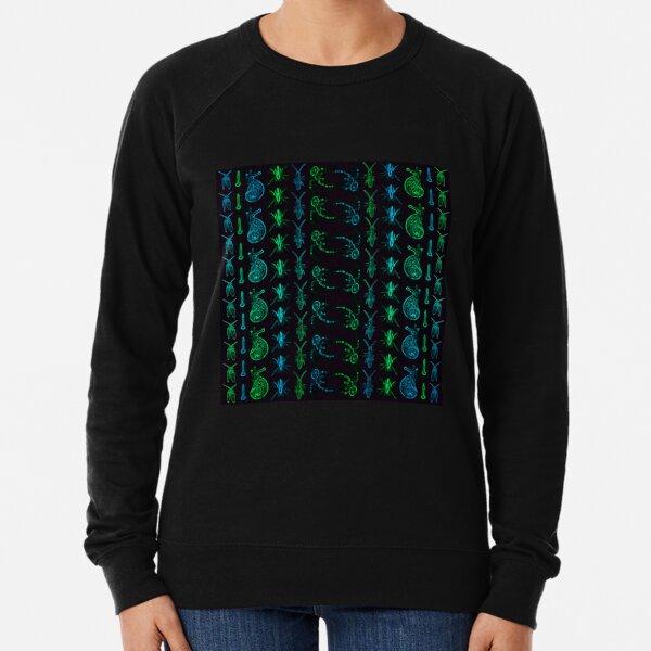 Neon Insect Stripes 1  Lightweight Sweatshirt