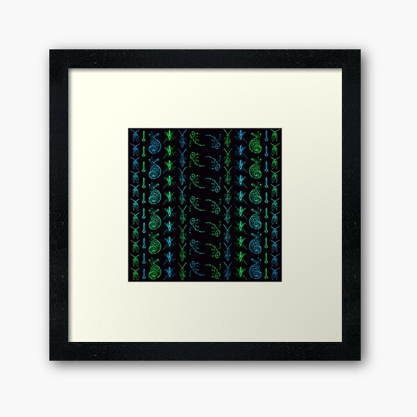 Neon Insect Stripes 1  Framed Art Print