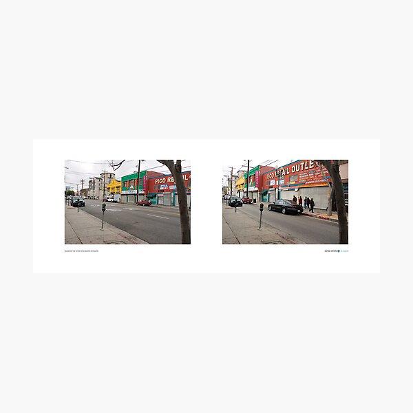 Pico Boulevard near Vermont Avenue, Byzantine Latino Quarter, Los Angeles, California, USA...narrowed. Photographic Print