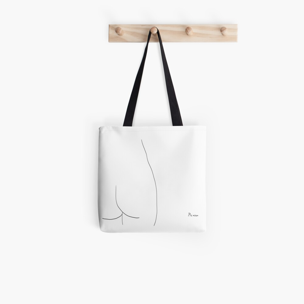 Picasso Line Art - Butt Tote Bag