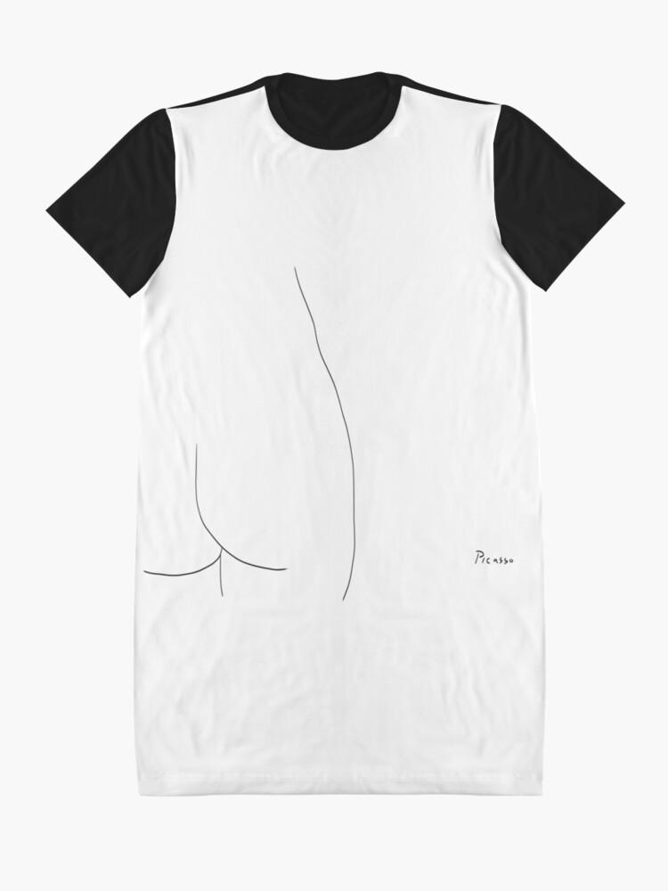 Alternate view of Picasso Line Art - Butt Graphic T-Shirt Dress