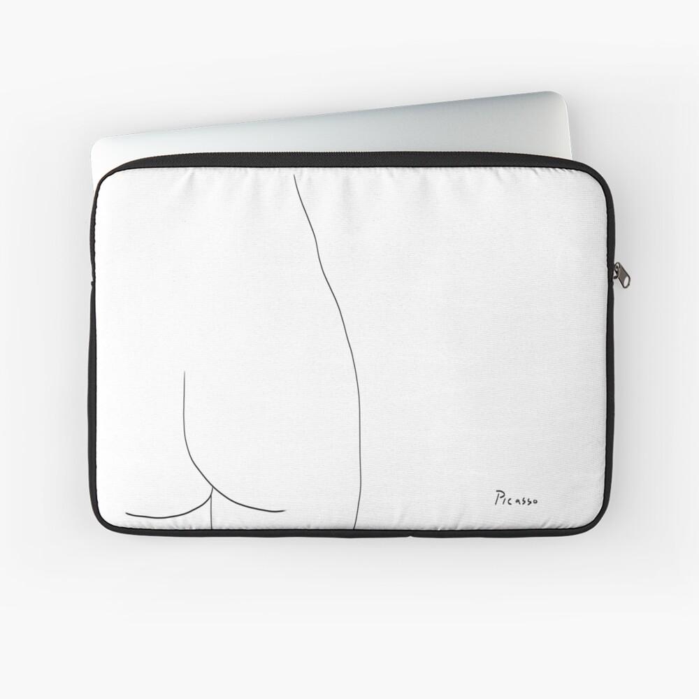 Picasso Line Art - Butt Laptop Sleeve