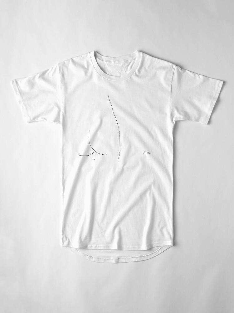 Alternate view of Picasso Line Art - Butt Long T-Shirt