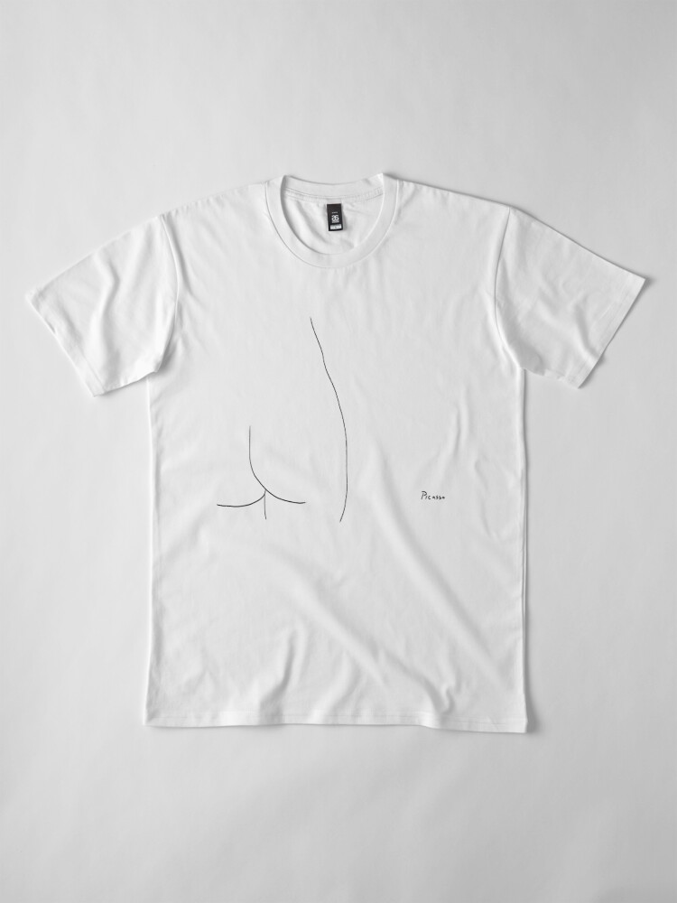 Alternate view of Picasso Line Art - Butt Premium T-Shirt