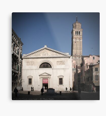 All These People - Venice, Campo San Maurizio Metal Print