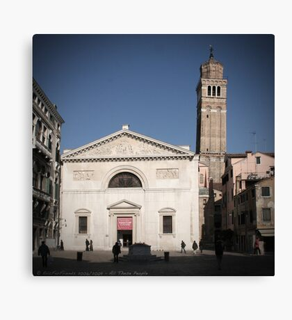 All These People - Venice, Campo San Maurizio Canvas Print