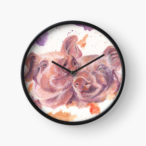 Two Pigs In A Pod Clock