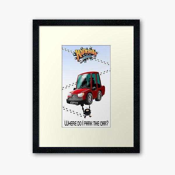 Where do I park the car? Framed Art Print