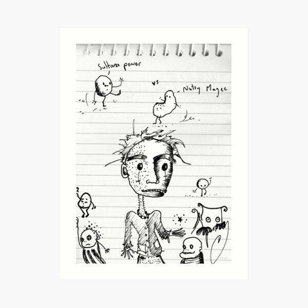 Loosey sketches 1 Art Print