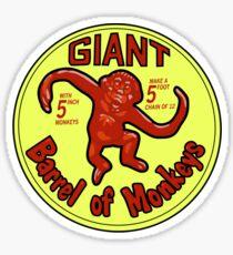 GIANT Barrel of monkeys Sticker