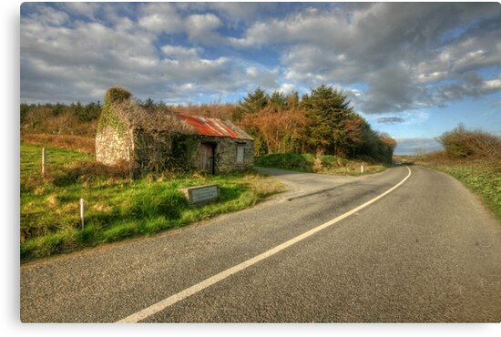 Ruined cottage by John Quinn