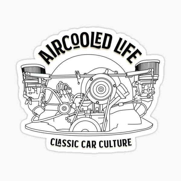 Aircooled Life - Classic Car Culture (Type 1 engine) Sticker