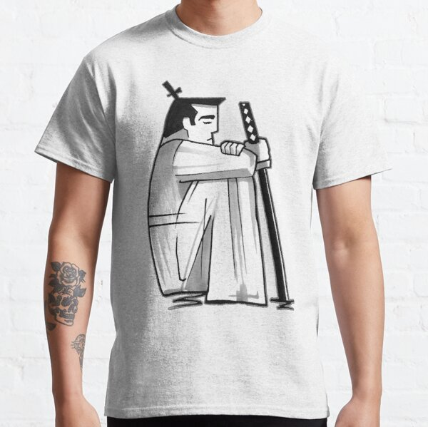 Samurai Jack™ in Black and White Contemplation Classic T-Shirt