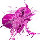 Pink Heart Flower white by mjvision Mia Niemi by mjvisiondesign