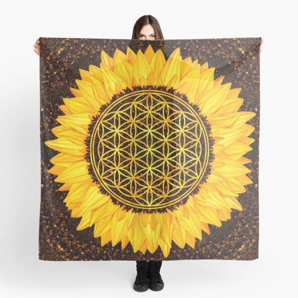 Blume des Lebens - Sonnenblume # 2 Tuch