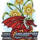 March of the Dragon and Daffodils by Angela Porter