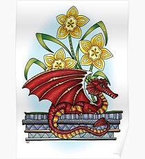 March of the Dragon and Daffodils Poster