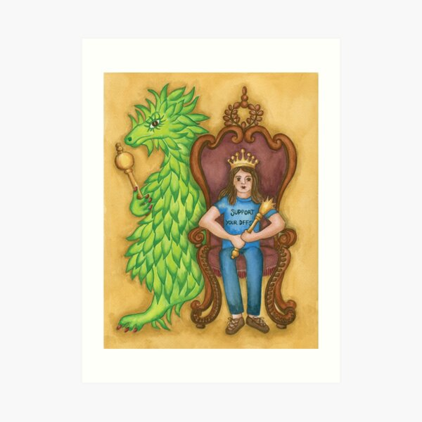 Princess Ingeborg and Esmeralda on the Throne Art Print