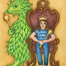 Princess Ingeborg and Esmeralda on the Throne by astrongwater