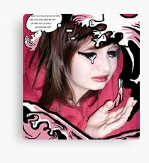 The Drowning Girl Appropriation Canvas Print