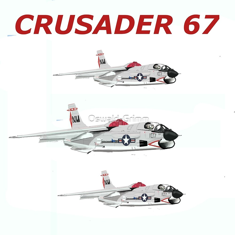 US Crusader Fighter 1967 by Oswald-Grimm