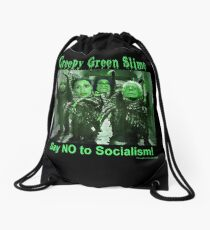 Creepy Green Slime Drawstring Bag