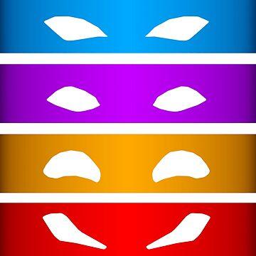 TMNT Masks by DerpyDuds