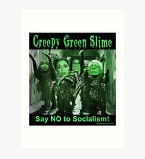 Creepy Green Slime Art Print