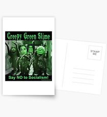 Creepy Green Slime Postcards