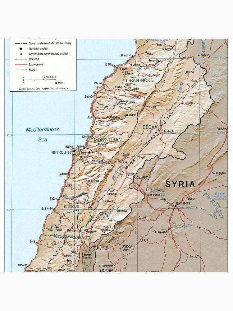 Map of Lebanon (2002) by BravuraMedia