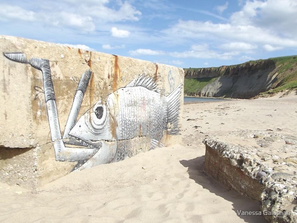 Beach Art by Vanessa Galashan