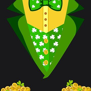 Toddler Boys Irish Tuxedo Bow-Tie Leprechaun Costume Design by melsens