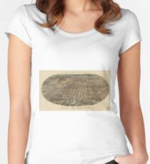 Vintage Map of London Canada (1896) Women's Fitted Scoop T-Shirt