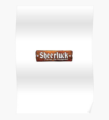 Sheerluck Versus the Paranormal - Logo Poster