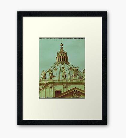 St Peters Basilica Dome  Framed Print