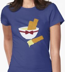 Fish fingers and custard Women's Fitted T-Shirt
