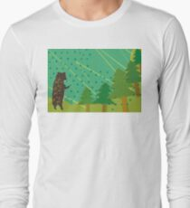 Camiseta de manga larga Oso en el bosque