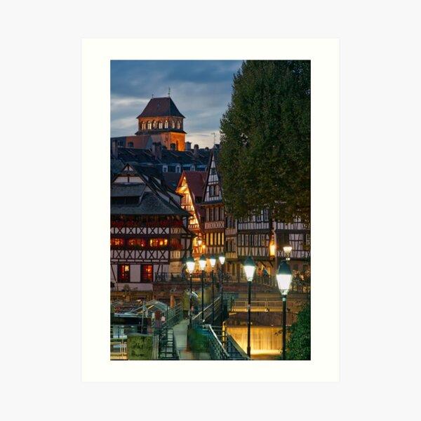 La Petite France la nuit Impression artistique