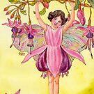 Fuchsia Flower Fairy by HAJRA MEEKS