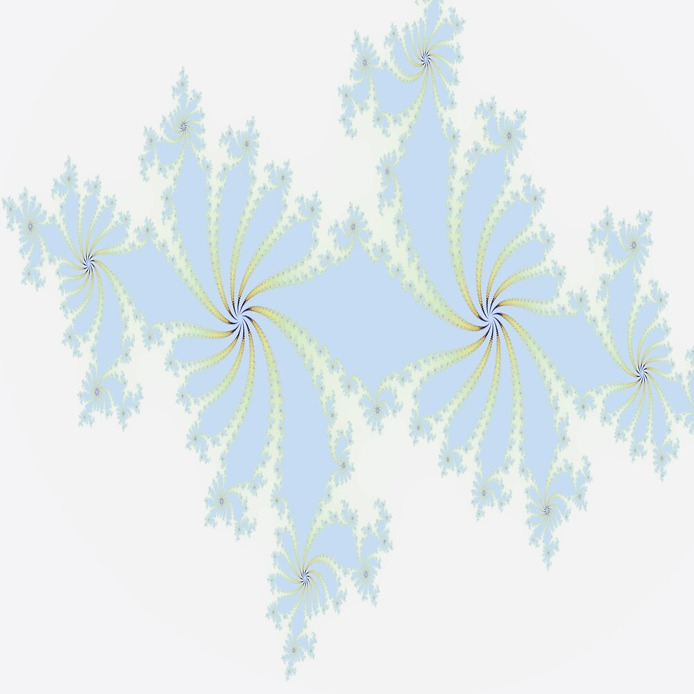 Floral Design in Light Blue by Jessielee72